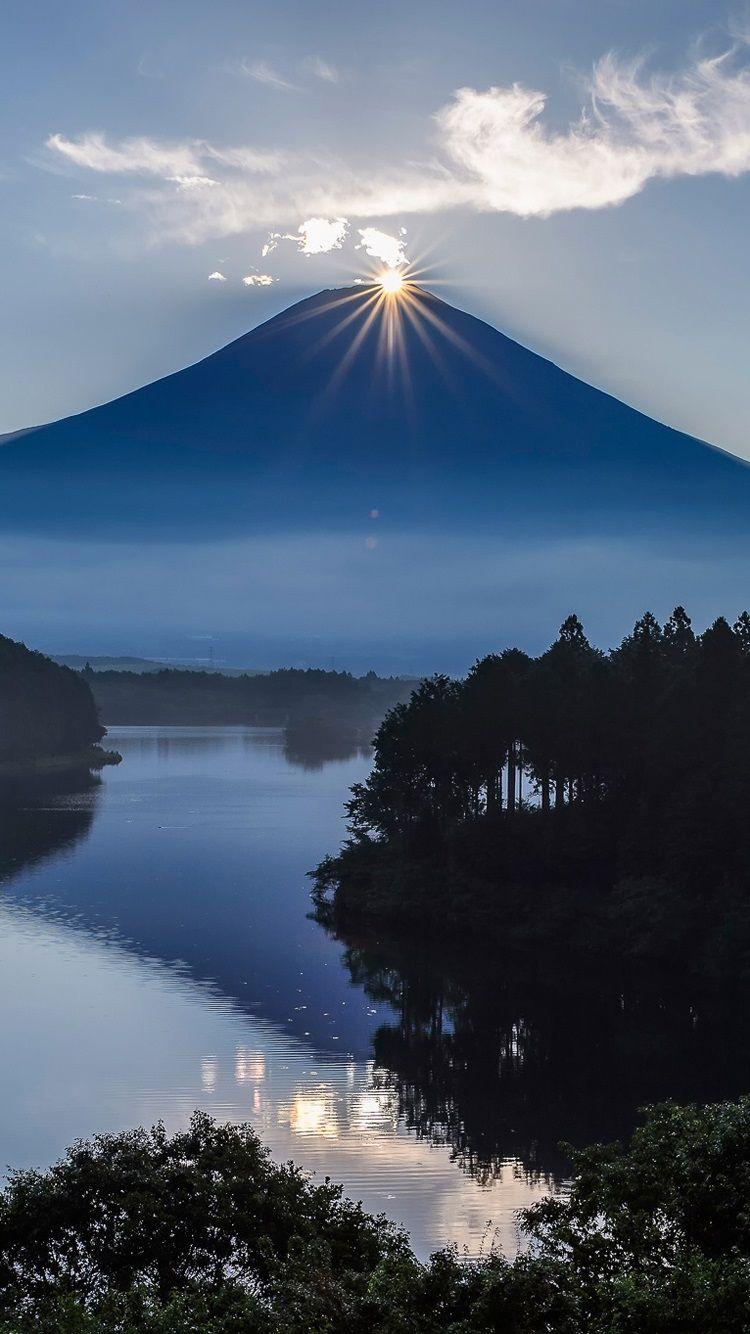 日本富士火山 山 日の出 Iphone 6 6s の壁紙 750x1334 6s 壁紙
