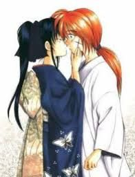 Kenshin and kaoru, kiss ( let's pronounce it in japanese ...