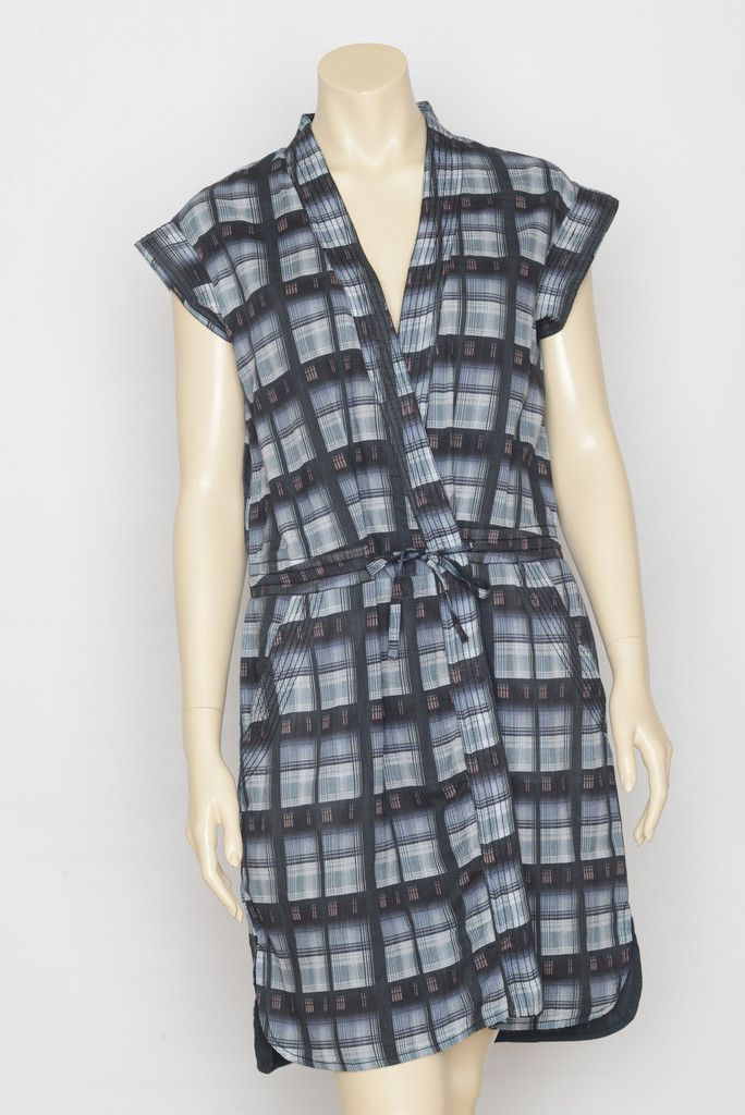 05dd8ecb8 Checked modern dress with drawstring. The dress is crafted in pure ...