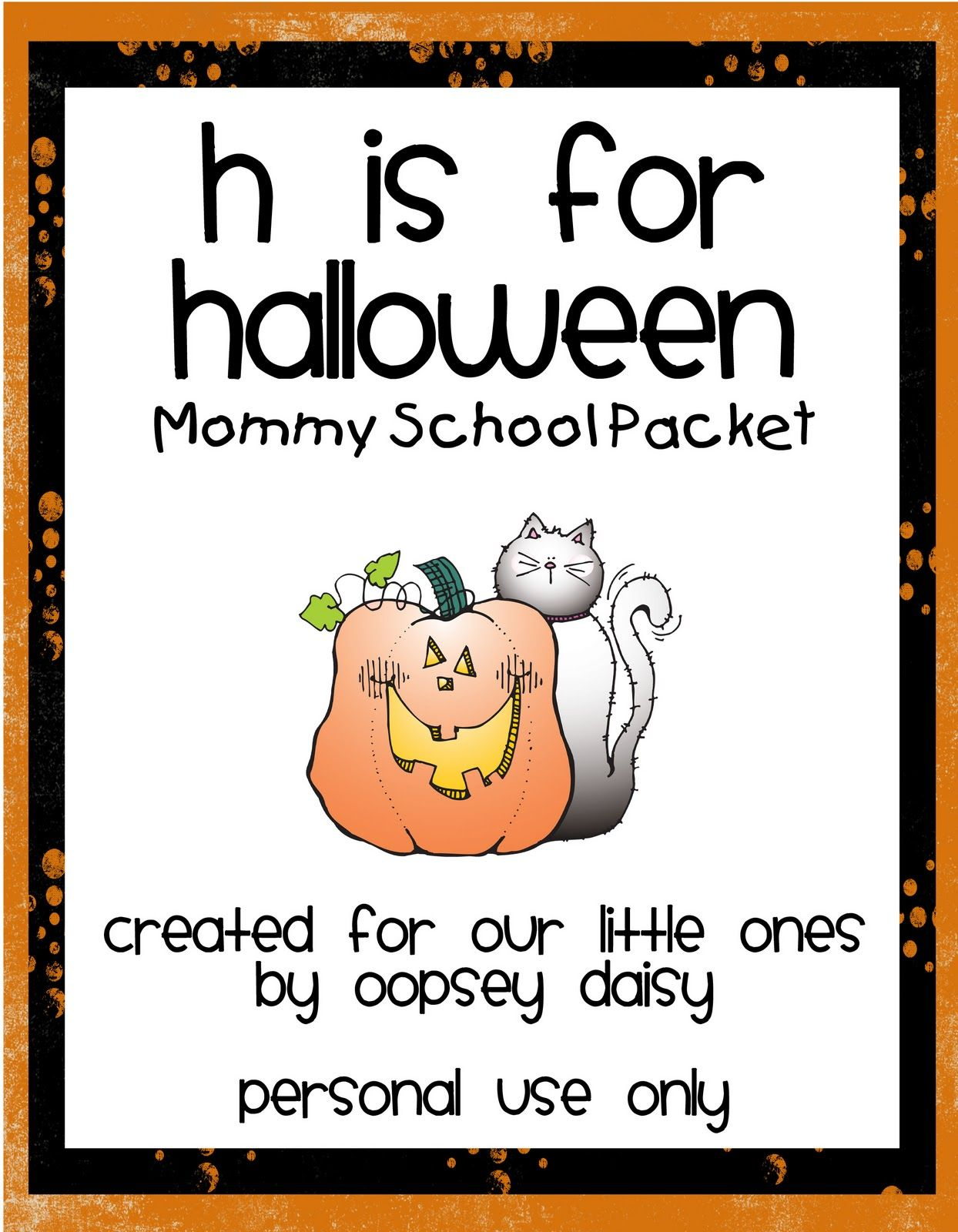H Is For Halloween Packet