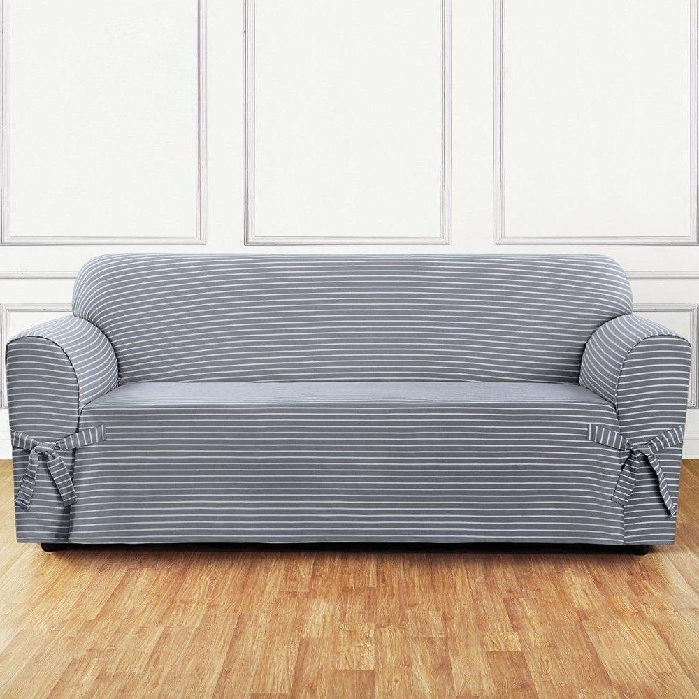 Strange Sure Fit Sofa Slipcover The Cabin Slipcovers Striped Machost Co Dining Chair Design Ideas Machostcouk
