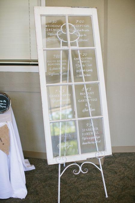 8 pane salvage window wedding day timeline wedding programs