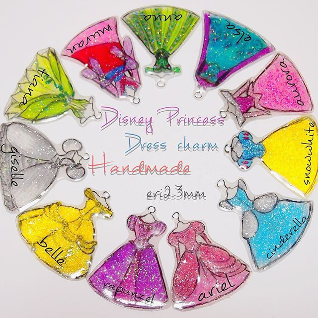 mulpix Disney Princess Dress charm Handmad by eri23mm