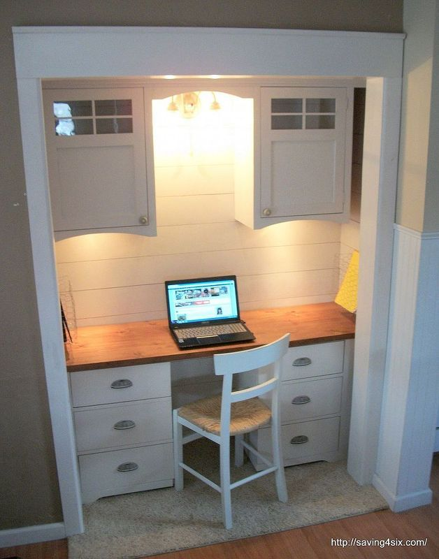 Top 27 Diy Ideas How To Make A Perfect Living Space For Pets: Closet Turned Office, Home Office Furniture, Home Office Space