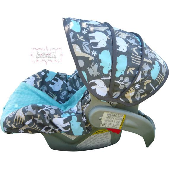 Zoology Sea With Tiffany Blue Infant Car Seat Cover Cute Baby Boy Love