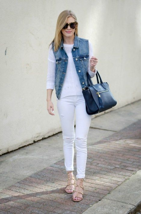 3a74fbb495 All White   A Denim Vest - Life With Emily