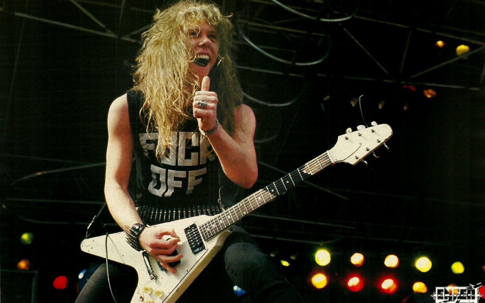 Young James Hetfield Metallica Metallica Live James Hetfield