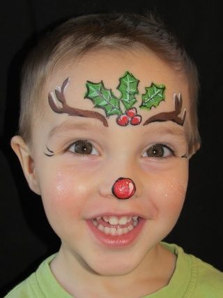 Christmas Face Paint.Simple Christmas Face Painting Google Search Face Paint