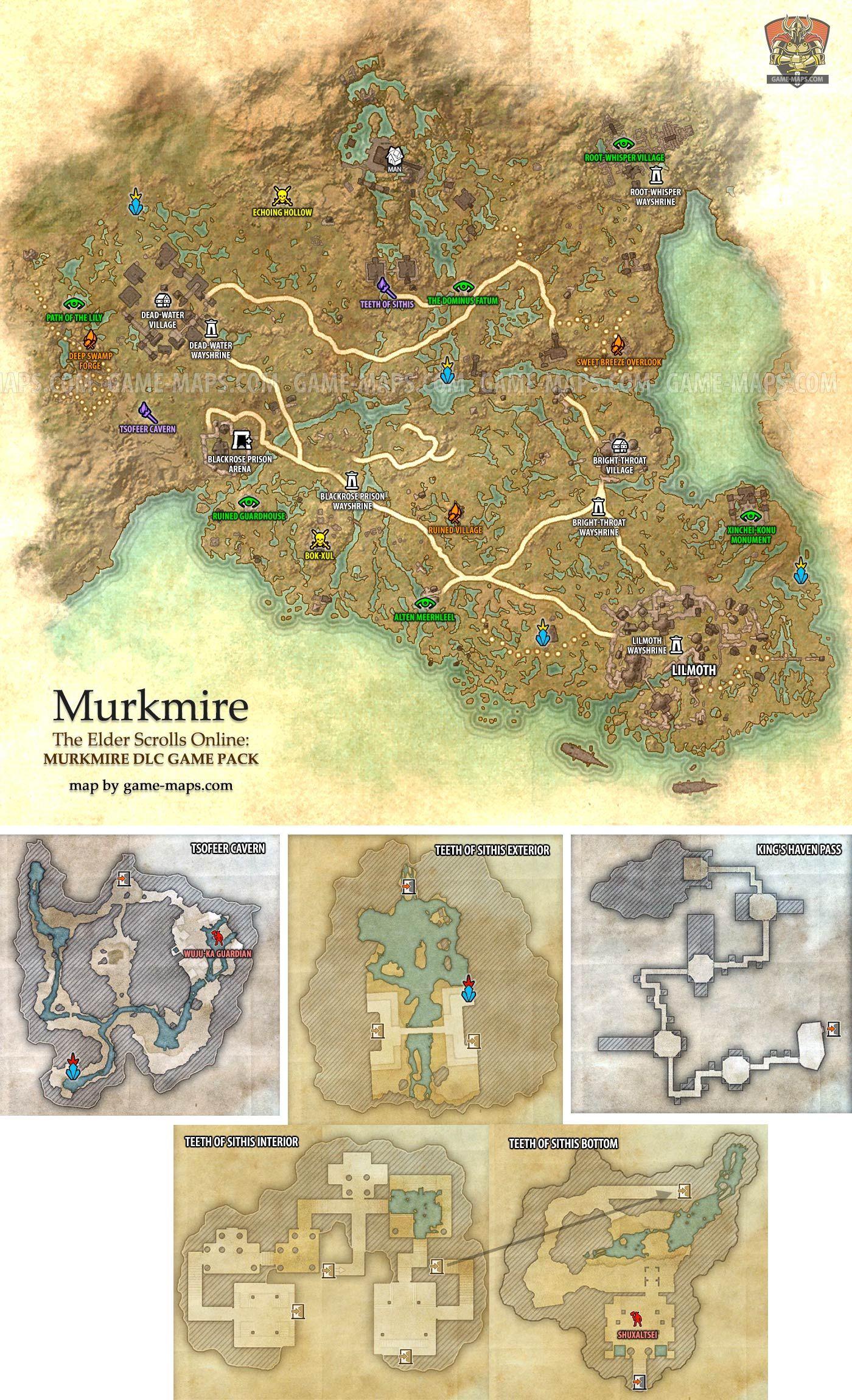 Murkmire zone map. The Elder Scrolls Online: Murkmire - ESO Maps ...