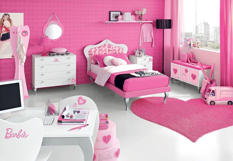 Barbie Girl Barbie Room Pink Bedroom For Girls Pink