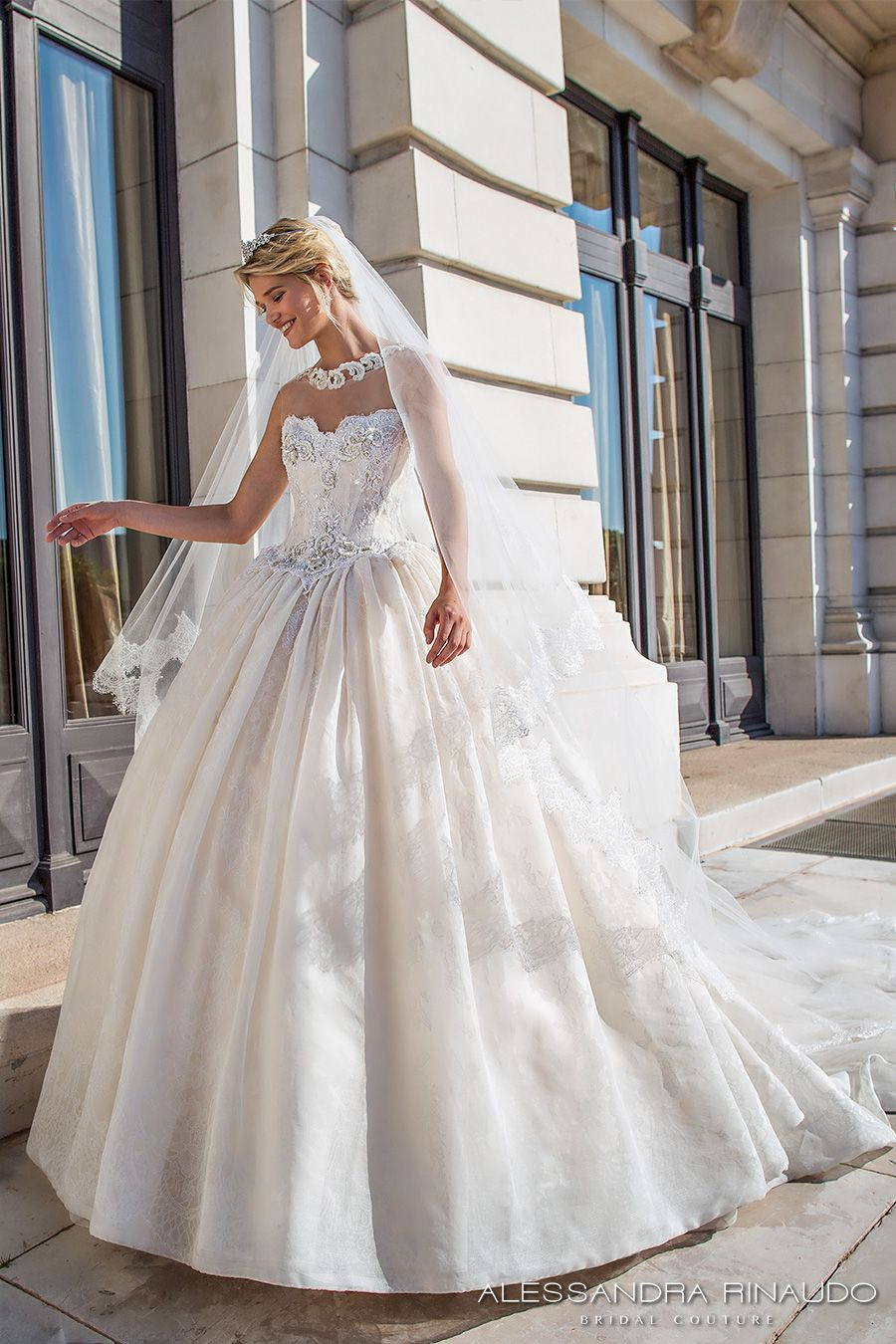 9f3a852becd alessandra rinaudo 2017 bridal strapless sweetheart neckline bustier heavily  embellished bodice princess ball gown wedding dress racer back royal long  train ...