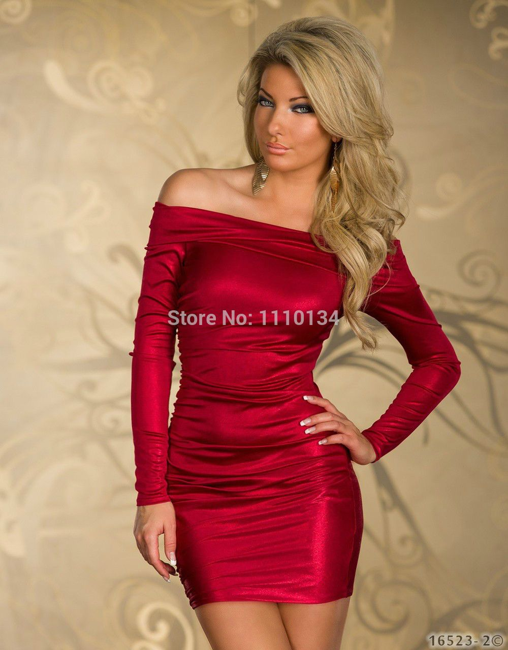 Plus size m l xl lange mouwen winter jurk sexy bodycon club jurken