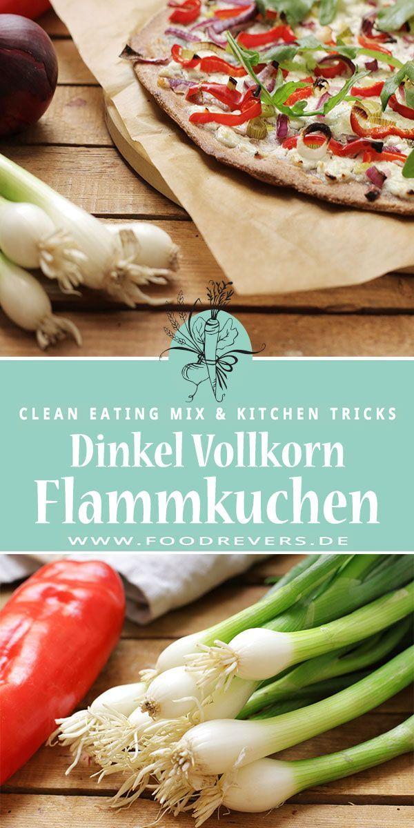 Sommerlicher Vollkorn Flammkuchen - Clean Eating - Foodrevers