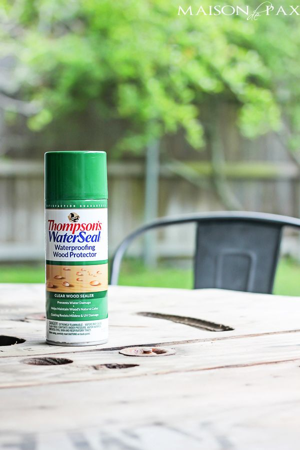 Easiest way to waterproof outdoor wood furniture ever! maisondepax.com - How To Waterproof Outdoor Furniture {the EASY Way Wood Finishes