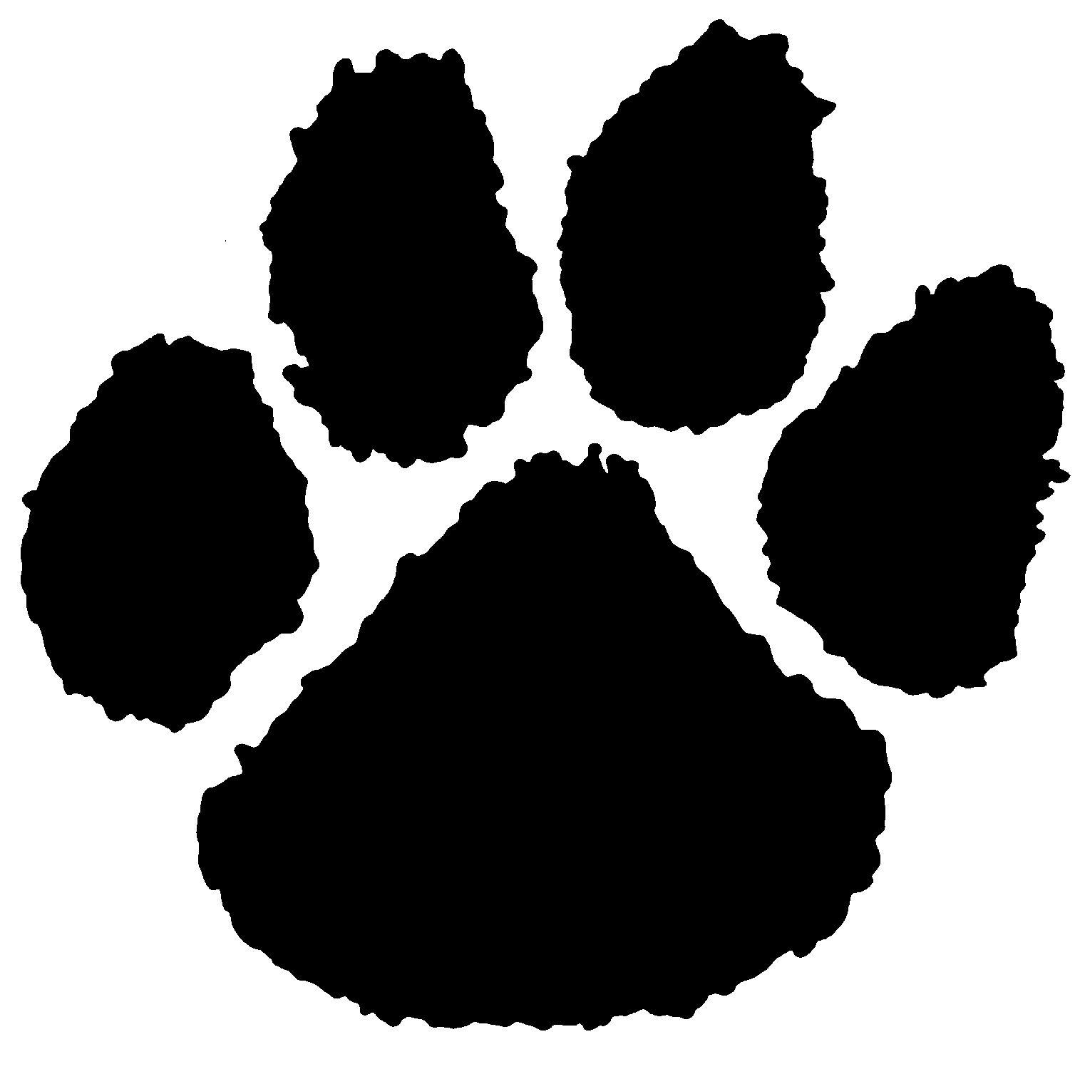 bear Print | Stencil Paw paw Tiger Bear paw stencils
