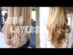 HOW I CUT & LAYER MY HAIR AT HOME » diy long layers haircut #diyhaircut