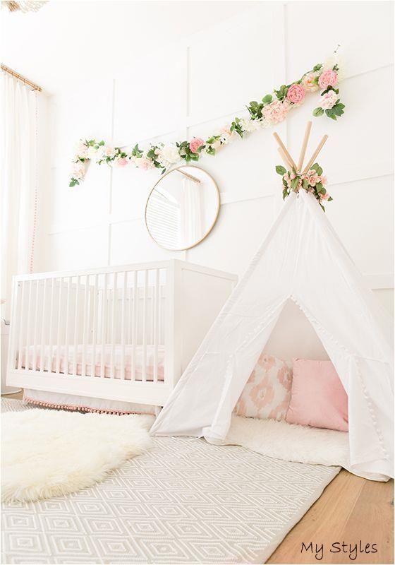The Posh Home Blush Pink Baby Girl Nursery Reveal #baby #boy #names