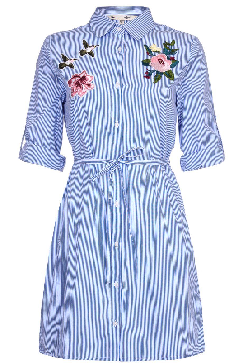 ccca3bd07d27 Σεμιζιε σιελ ριγε φορεμα απο λεπτο υφασμα με εντυπωσιακο floral απλικέ  κεντημα | Yumi London
