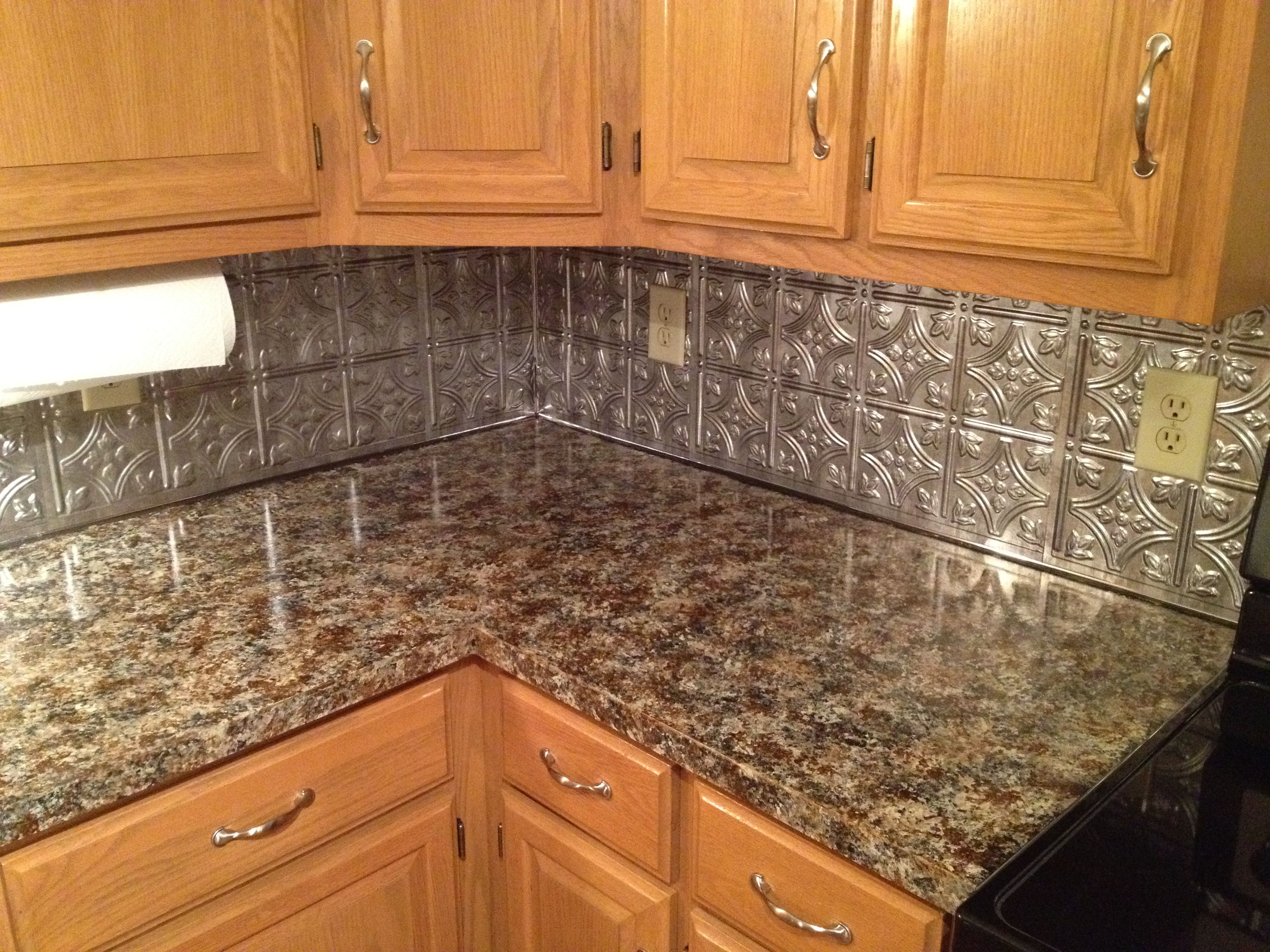 Kitchen counter topback splash make over for under 300