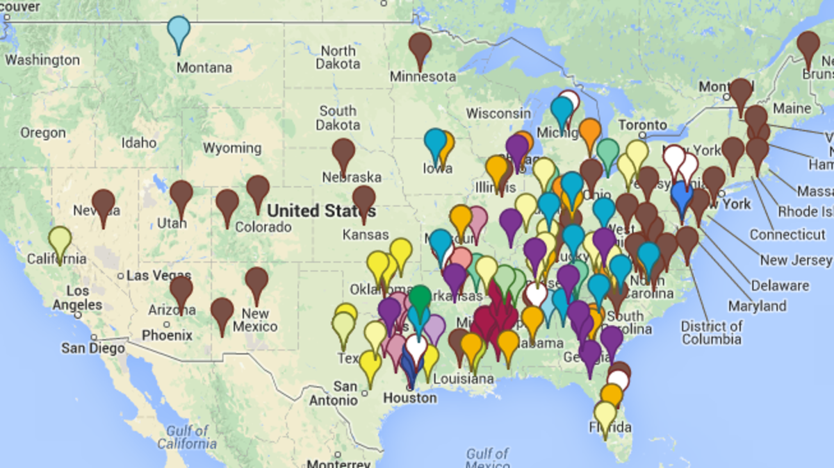 Map States Have An Active Chapter Of The KKK News S - Map of hate groups in us