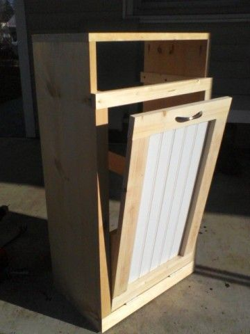 Tilt Out Trash Bin Do It Yourself Home Projects From Ana White Trash Can Cabinet Trash Bins Wooden Diy