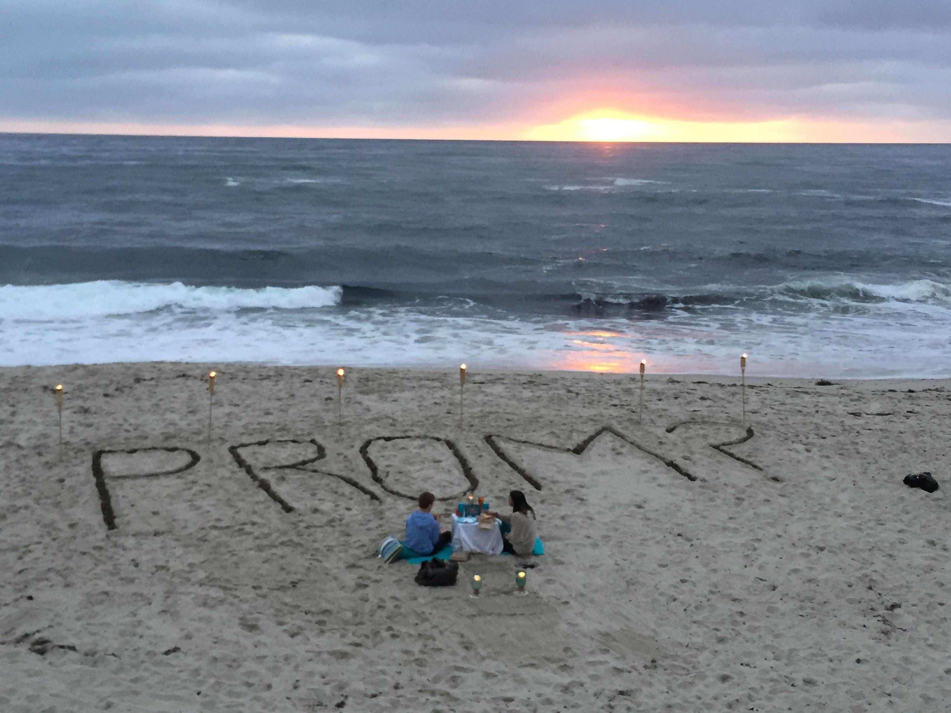 romantic sunset prom proposal promposal romance john pinterest