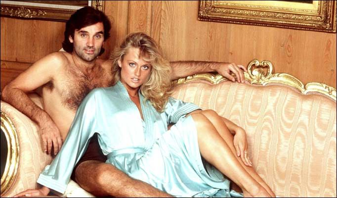 Bed of dreams ... George Best with Miss World Mary Stavin | George ...