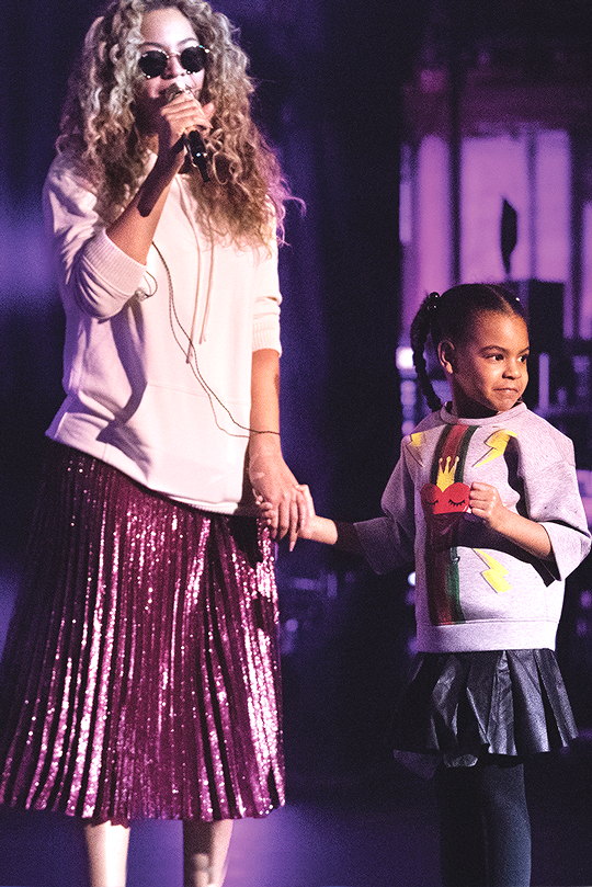 Beyoncé & Blue at the Lemonade Screening Parkwood Holiday Party Rehearsals 15th December 2016