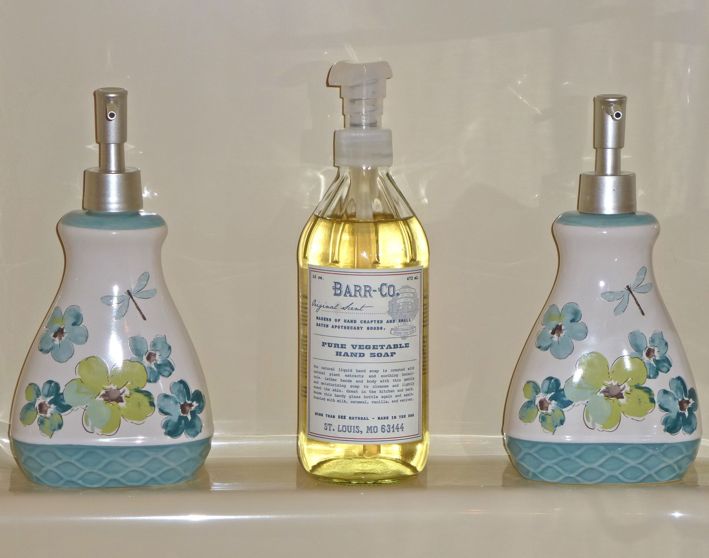 Dragonfly lotion dispensers from walmart for shampoo and