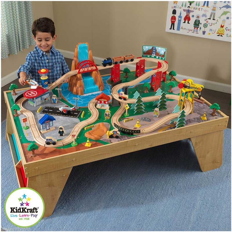 Kidkraft Waterfall Junction Train Set And Table | Learn & Play ...