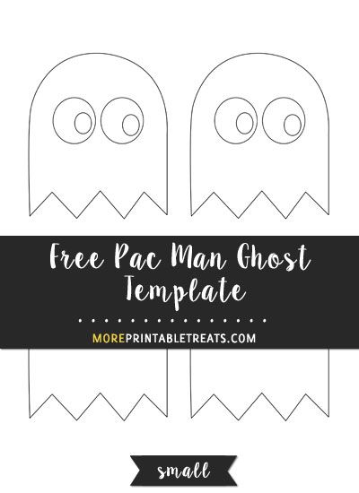 free pac man ghost template small size shapes and templates