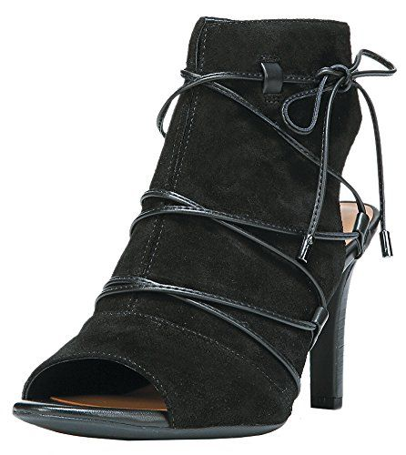 Franco Sarto Women's L-quinera Ankle Bootie, Black, 9.5 M US ** To view further for this item, visit the image link.
