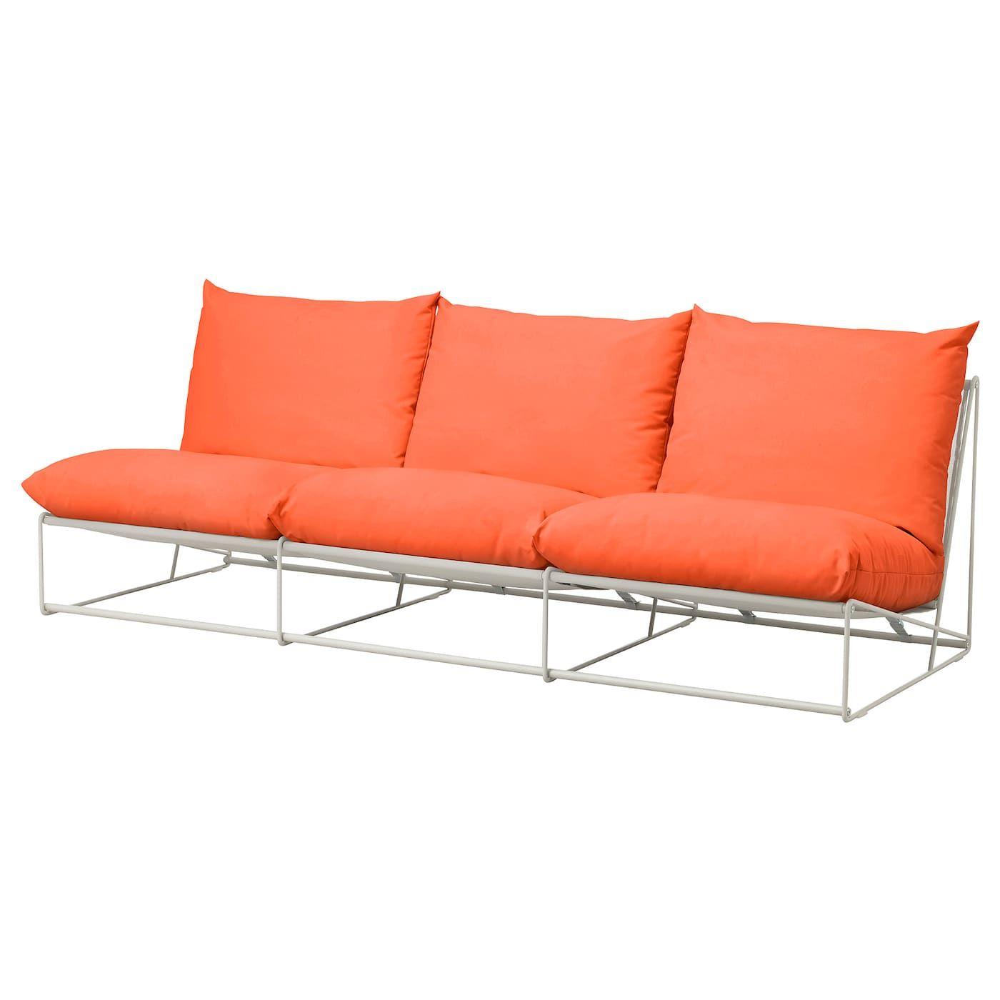 Havsten 3er Sofa Drinnen Draussen Ohne Armlehnen Orange Beige Ikea Osterreich 3er Sofa Kissen Sofa Und Outdoor Sofa