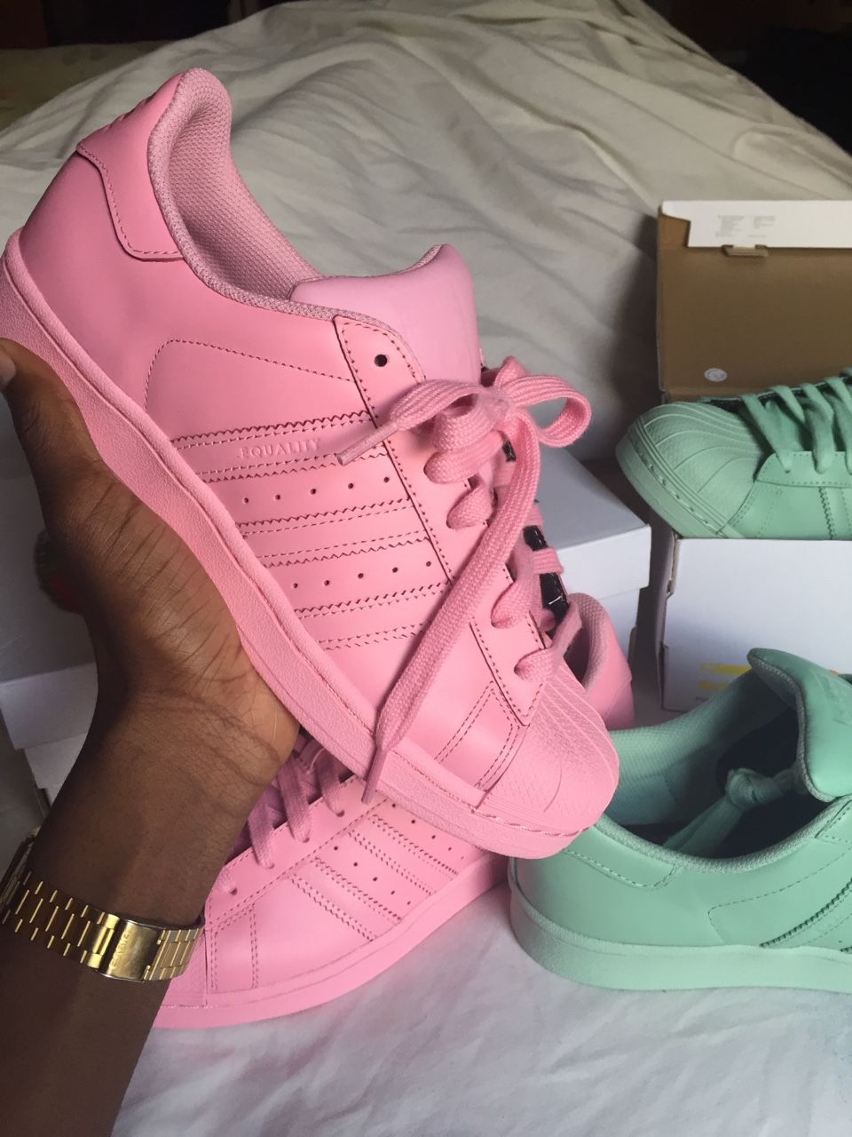 Adidas Superstar Supercolor light pink wo bekommen ? (Schuhe