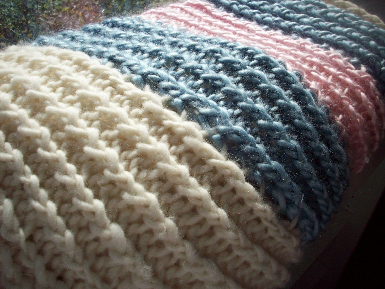 Loom Knitting Throw Blanketor You Can Just Use The Pattern To