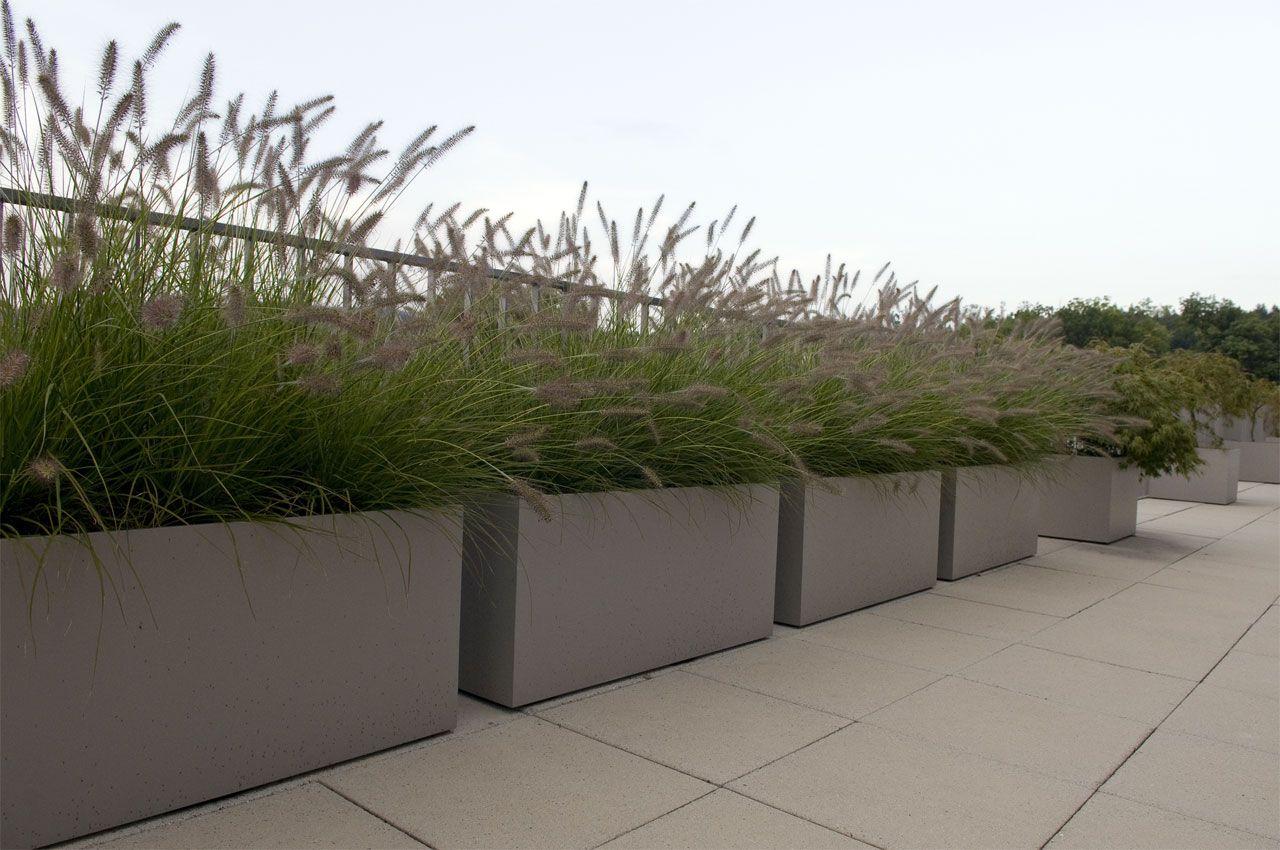 pflanzgefäß faserzement, pflanzkübel viereck xxl | kübel container, Gartengerate ideen