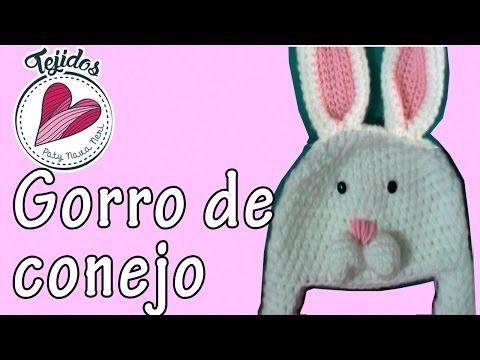 Gorro de conejo a crochet TUTORIAL | PatyNavaNeri - YouTube ...