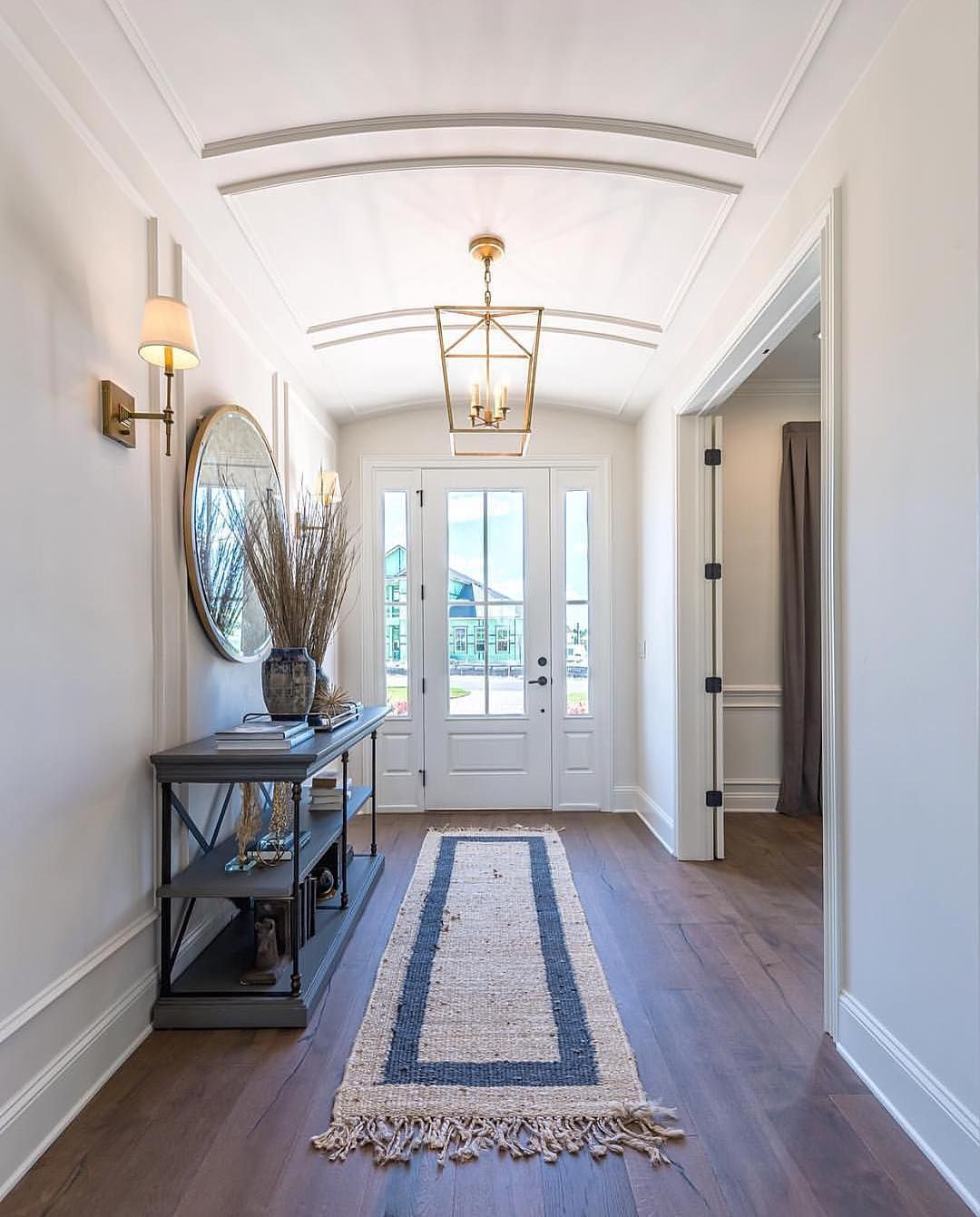 Transitional Foyer Hallway: Crushing On This Beautiful And Bright Foyer On This Gloomy