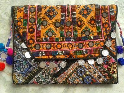 Vintage Banjara Patchwork Clutch Bag vi