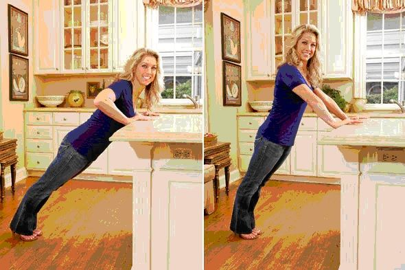 Image result for kitchen bench push ups