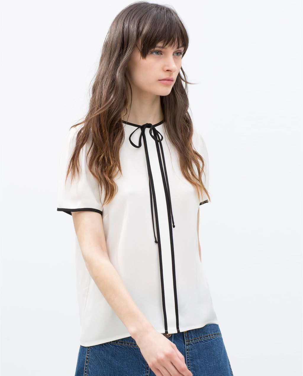 Image 3 of TOP WITH BOW from Zara | My Style | Pinterest | Zara ...