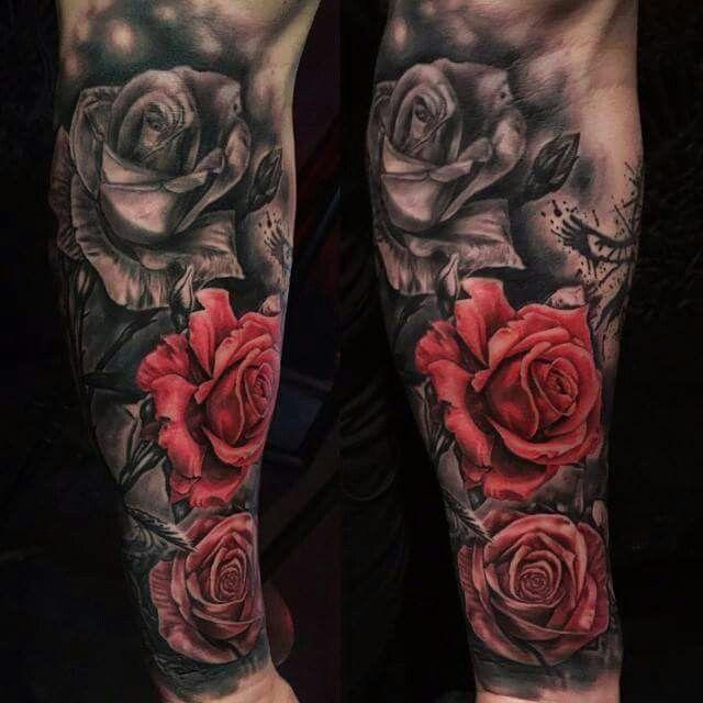 174078c84b131e463e03ddc12c44108e Jpg 640 640 Pixels Rose Tattoo Sleeve Sleeve Tattoos Rose Tattoos For Men