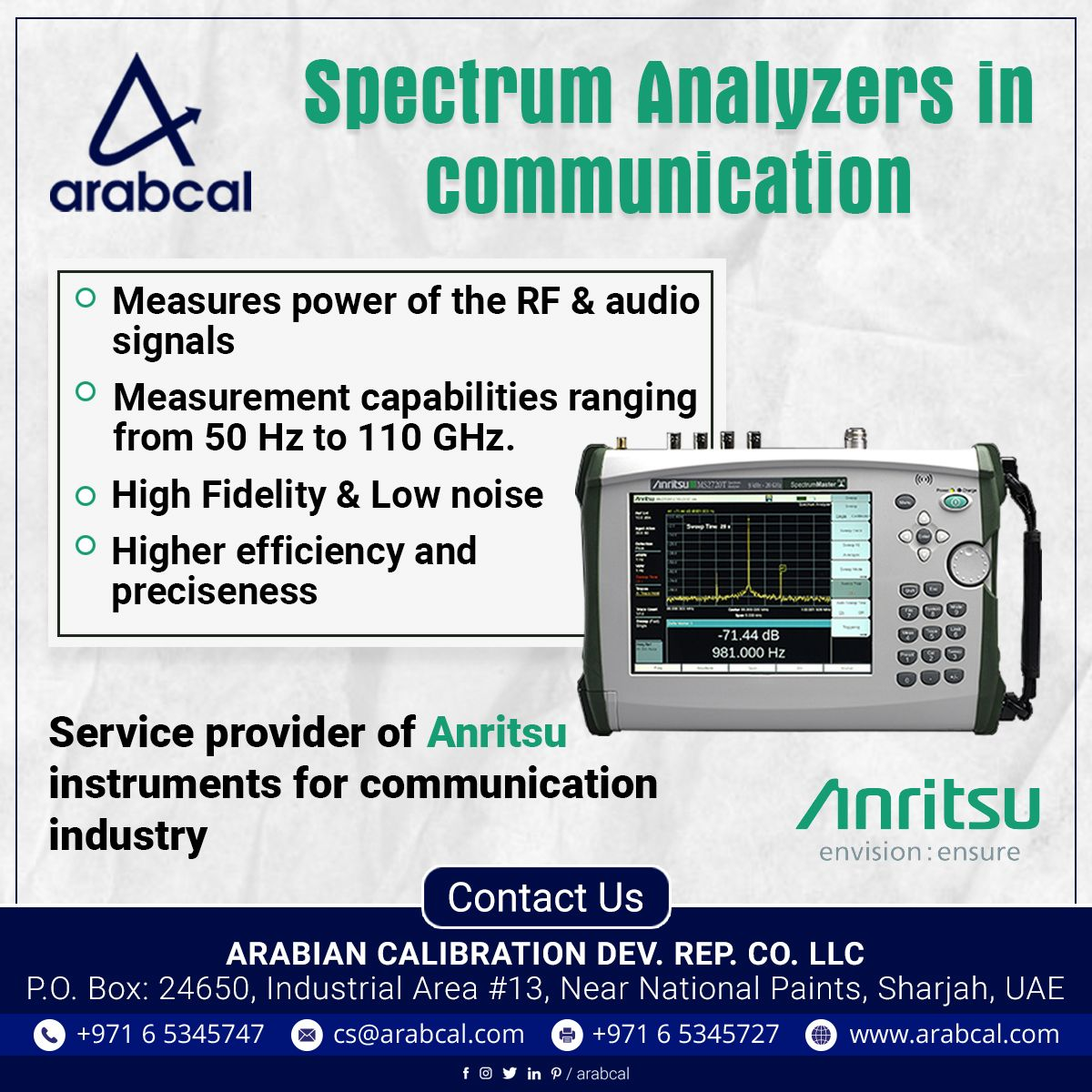 Spectrum Analyzers are widely used in the communication