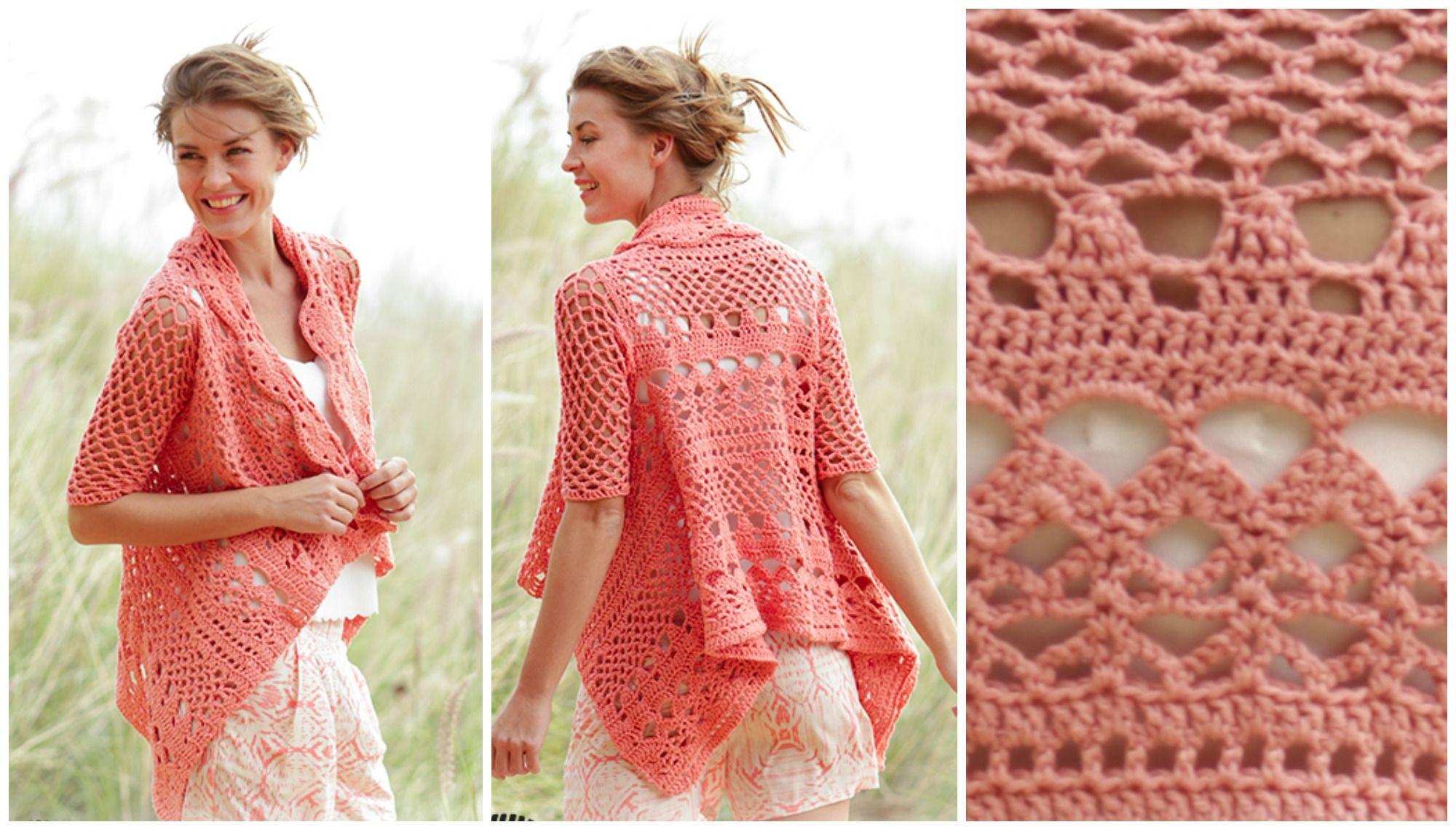 Peach Dream Jacket – Arte Creativo | TEJIDOS A CROCHET | Pinterest ...