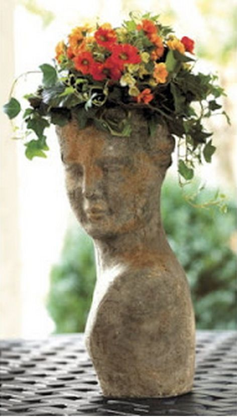 Lovely Garden Planters · Head Planter