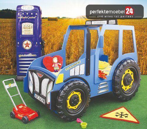 Amazon De Traktor Bett Autobett Kinderbett Spielbett Inkl