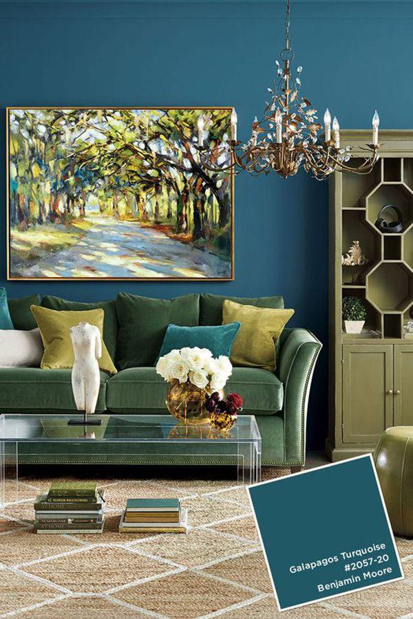 blue living room color ideas paredes Pinterest Room colour