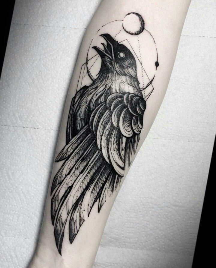 Corvo Black Work Tattoos Corvo Tatoo Tatuagens Aleatorias E