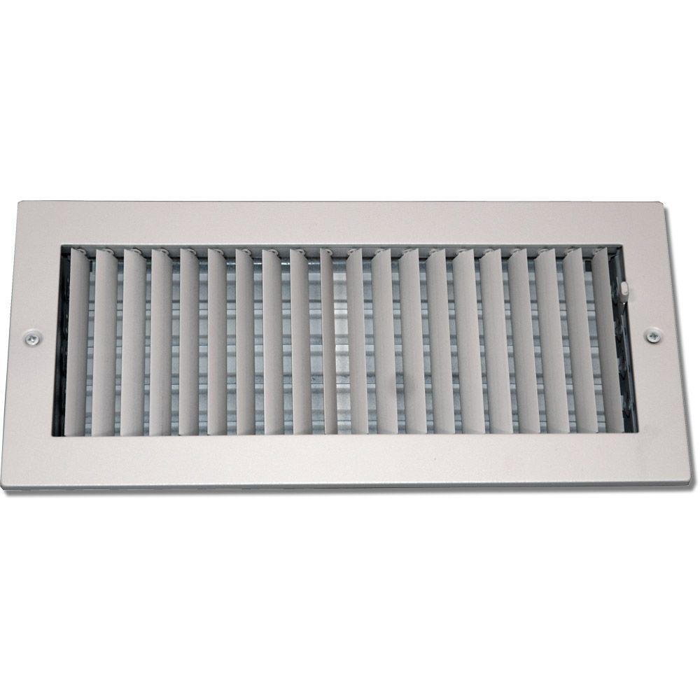 Speedi Grille 14 In X 6 In Steel Ceiling Or Wall Register White