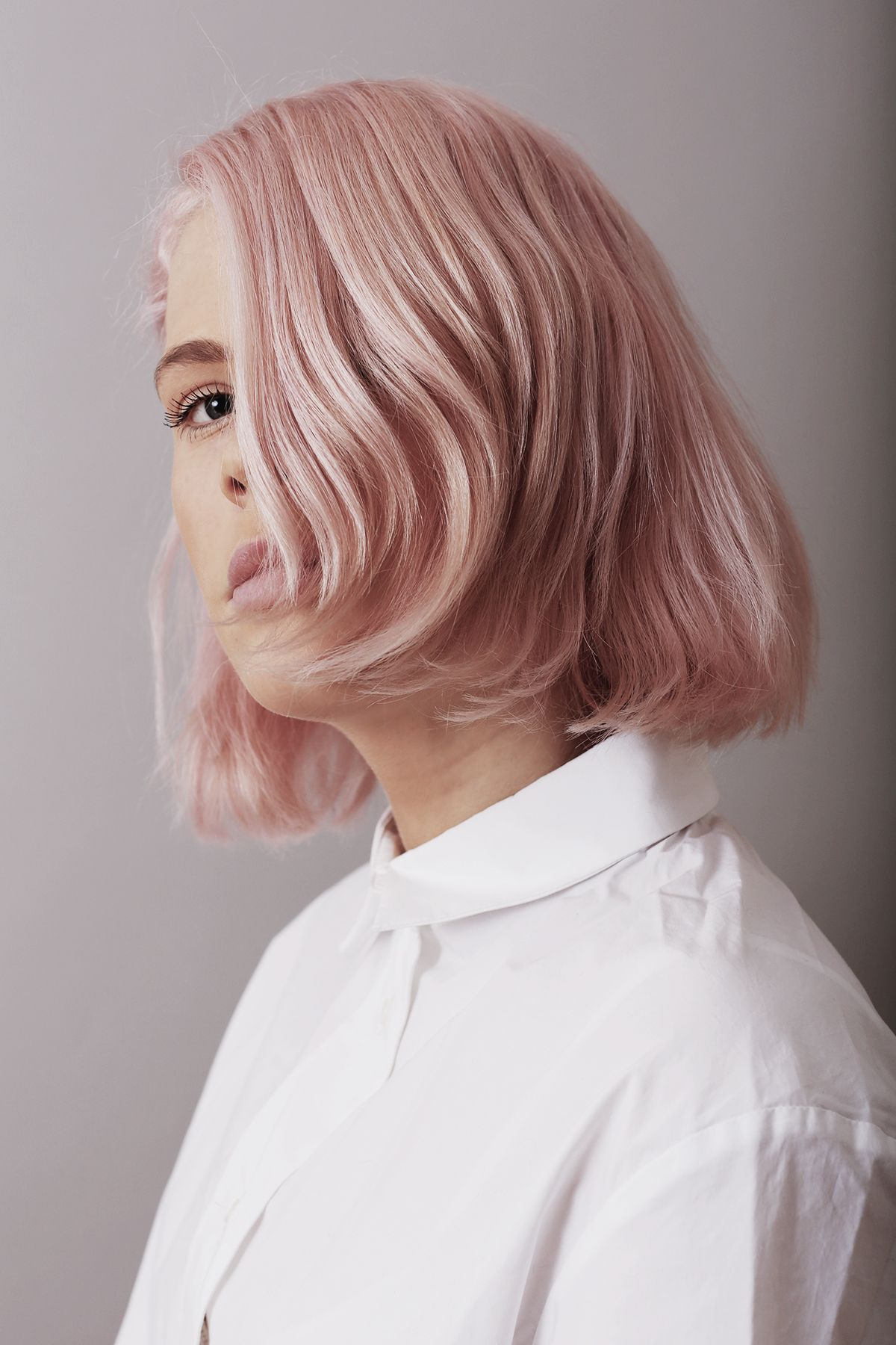 Personal style pink hair by glasshouse salon in london colour